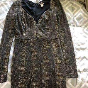 Metallic gold mini dress